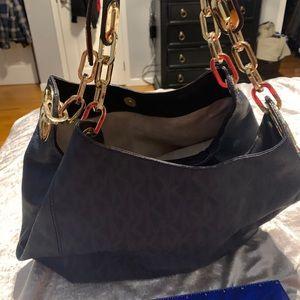 Blue Michael Kors  leather bag